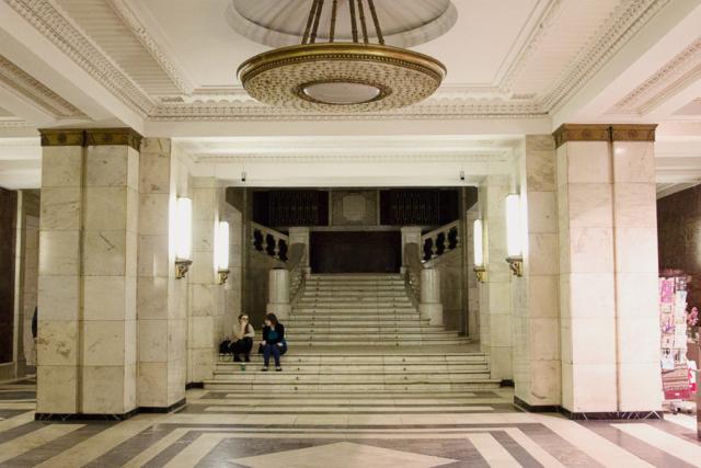 Лестница в Главном здании МГУ